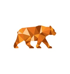 American black bear side low polygon vector