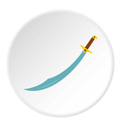 arabian scimitar sword icon circle vector image