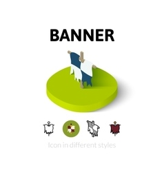 Banner icon in different style vector