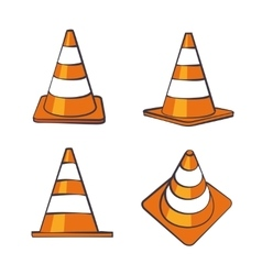 Cartoon Traffic Cones Set vector image vector image