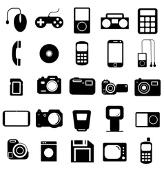 Collection flat icons Multimedia symbols vector image vector image