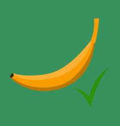 color banana fruit icon modern simple flat vector image vector image
