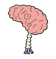 Comic cartoon brain vector