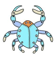 Crab doodle vector