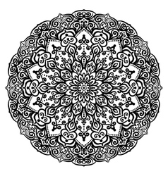 Curly flower coloring page vector image vector image
