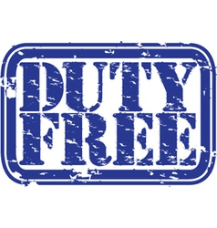 Duty Free stamp vector image