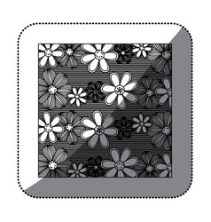 figure flowers background icon vector image vector image