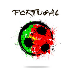 Flag of portugal as an abstract soccer ball vector
