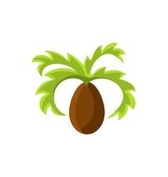 Frican palm tree vector