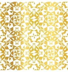 Golden on white abstract kaleidoscope vector