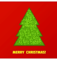 Green Cristmas tree vector image