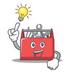 Have an idea tool box character cartoon vector