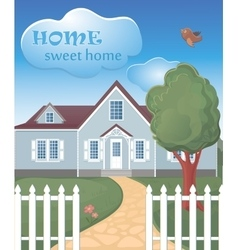 Home sweet home poster vector image