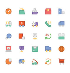 Logistics delivery colored icons 7 vector