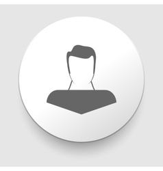 Man silhouette profile picture - vector image vector image