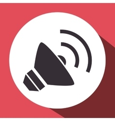 Megaphone sound device isolated icon vector
