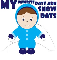My favorite days vector