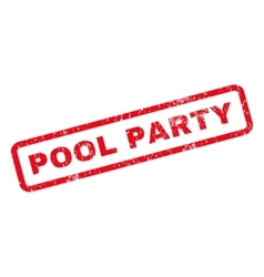 Pool party rubber stamp vector