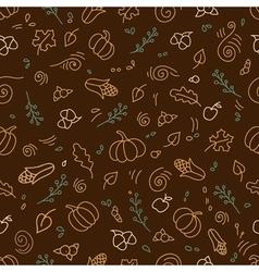 Seamless pattern of autumn symbols vector image