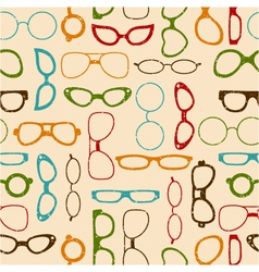 seamless retro color pattern with glasses vector image