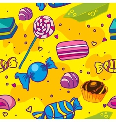 seamless texture of candy vector image vector image