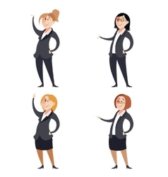 Set of businesswomen vector image vector image