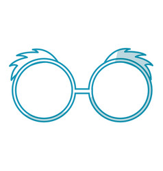 Shadow blue glasses cartoon vector