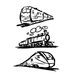 Speed train sketch for your design vector