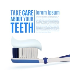 Take care about your teeth dental background vector