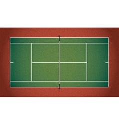 Textured realistic tennis court vector
