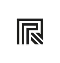 Unusual geometric letter R Architecture vector image vector image