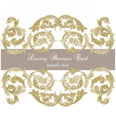 Uxury gold ornament card vector