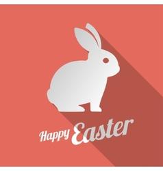 White bunny silhouette vector