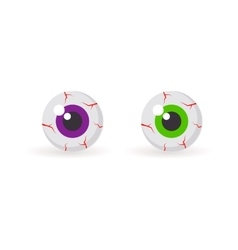 Eyeballs with bloody veins vector