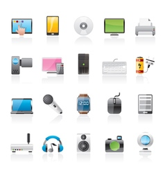 Home electronics and personal multimedia devices vector