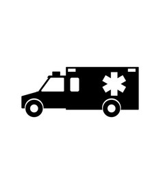 Emergency ambulance with siren flat design vector