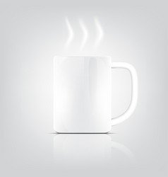 Object ceramic cup drink isolated vector