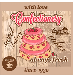 Confectionery dessert menu vector
