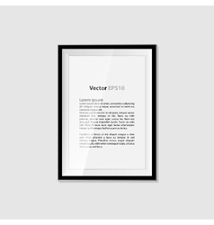 Realistic blank frame on a white background EPS10 vector image