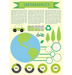 Infochart showing the planet earth vector
