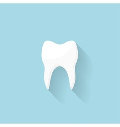 Flat web internet icon tooth vector