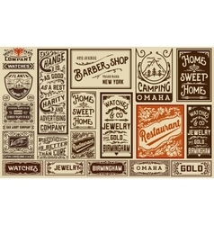Mega pack old advertisement designs and labels - vector