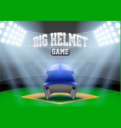 Background night baseball stadium vector