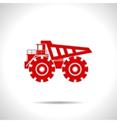 Color flat heavy machine icon vector