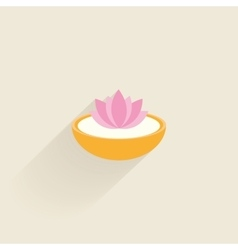 Abstract spa icon vector