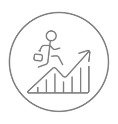 Financial recovery line icon vector