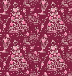 seamless sweets pattern vector image
