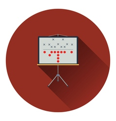 American football game plan stand icon vector