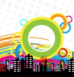 art urban design vector image
