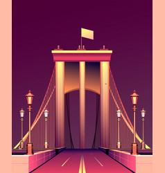 city night bridge vector image